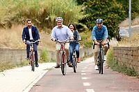 20210926 Roberto Gualtieri in bicicletta a Roma