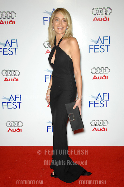 """SHARON STONE at the AFI Film Festival's opening night gala & US premiere of her new movie """"Bobby"""" at the Grauman's Chinese Theatre, Hollywood..November 1, 2006  Los Angeles, CA.Picture: Paul Smith / Featureflash"""