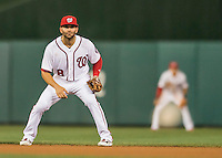 25 August 2016: Washington Nationals infielder Danny Espinosa in action against the Baltimore Orioles at Nationals Park in Washington, DC. The Nationals blanked the Orioles 4-0 to salvage one game of their 4-game home and away series. Mandatory Credit: Ed Wolfstein Photo *** RAW (NEF) Image File Available ***
