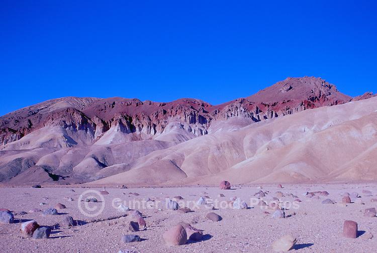 Death Valley National Park, California, CA, USA - the Black Mountains near Golden Canyon
