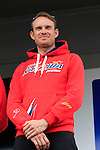 Alexander Kristoff (NOR) Team Katusha at the Team Presentations in Compiegne before the 2015 Paris-Roubaix cycle race held over the cobbled roads of Northern France. 11th April 2015.<br /> Photo: Eoin Clarke www.newsfile.ie