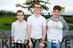 Jake Reidy, Tony Hoare and Michael O'Sullivan from Tralee after receiving their Leaving Cert results.