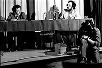 FILE PHOTO -  Gerald Godin, Claude Jutras, in April 1975 (73)<br /> <br /> Photo : Alain Renaud<br />  - Agence Quebec Presse