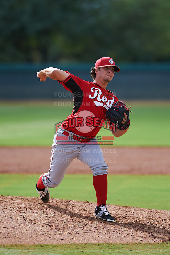 Cincinnati Reds pitcher Connor Bennett (62) during an instructional league game against the Los Angeles Dodgers on October 20, 2015 at Cameblack Ranch in Glendale, Arizona.  (Mike Janes/Four Seam Images)