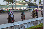 February 27, 2021: Wholebodemeister #1, ridden by Edgard J. Zayas, draw clear of the field in the stretch to win the Davona Dale Stakes (Grade 2) by four lengths on Fountain of Youth Day at Gulfstream Park in Hallandale Beach, Florida. Liz Lamont/Eclipse Sportswire/CSM