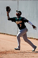 Jeremy Barfield - Oakland Athletics - 2009 spring training.Photo by:  Bill Mitchell/Four Seam Images