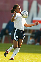 Danielle Slaton of the USWNT controls the ball.The USWNT defeated Russia 5-1 on  September 29, at Mitchel Athletic Complex, Uniondale, NY.