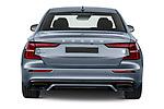 Straight rear view of 2021 Volvo S60-Recharge Polestar 4 Door Sedan Rear View  stock images