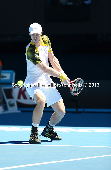 Murray wins at Australian Open in Melbourne Australia on 15th January 2013