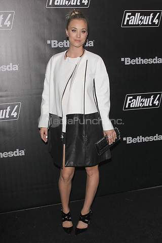 LOS ANGELES, CA - NOVEMBER 5: Kaley Cuoco at the Fallout 4 video game launch event in downtown Los Angeles on November 5, 2015 in Los Angeles, California. Credit: mpi21/MediaPunch