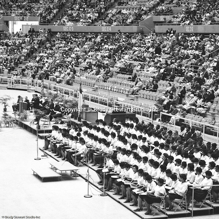 Pittsburgh PA:  View of the choir at the annual Council of Churches Easter Sunrise Services held at the Civic Arena.  The Council of Churches staged the event that included members of local Catholic, Presbyterian, Lutheran, Baptist, and other denominations in the Pittsburgh Area.  This year the roof was not opened due to weather.<br />