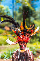 Woman in traditional dress - Highlands, Papua New Guinea