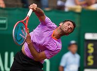 13-07-13, Netherlands, Scheveningen,  Mets, Tennis, Sport1 Open, day six, Marc Gicquel (FRA)<br /> <br /> <br /> Photo: Henk Koster