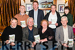 Thomas O'Sullivan (2nd from the left) launching his new book Kerry Dream Time in the Beaufort Bar and Restaurant last Thursday night. Pictured with front l-r Matthew Brosnan, Margaret O'Shea (Beaufort Community Council), Padraig O'Shea (Chair person for Beaufort Community Council), back l-r Brian O'Connor, Kieran Barry (Department of employment affairs and social protection), Sean De Buitlear (SK DP), Gail Tangney (Department of employment affairs and social protection).
