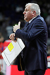 Fenerbahce Ulker Istambul's coach Zeljko Obradovic during Euroleague Third Place Game. May 15,2015. (ALTERPHOTOS/Acero)