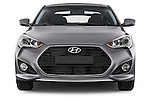 Car photography straight front view of a2015 Hyundai Veloster Turbo 3 Door Hatchback Front View
