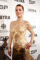 Karine Vanasse, actress <br /> in a dress by Andy The-Anh<br /> photo : Pierre Roussel (c)  Images Distribution