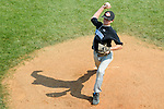 Aberdeen, MD: Tampa's Josh Russo maks a pitch during Thursday afternoon's Tampa v Willamette Valley game at the 2009 Cal Ripken World Series