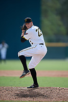 Pittsburgh Pirates pitcher Vince Deyzel (23) delivers a pitch during an Instructional League game against the Tampa Bay Rays on October 3, 2017 at Pirate City in Bradenton, Florida.  (Mike Janes/Four Seam Images)