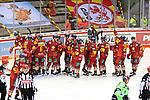 Eishockey DEL 37. Spieltag: Düsseldorfer EG vs <br /> ERC Ingolstadt am 07.04.2021 im ISS Dome in Düsseldorf<br /> <br /> Düsseldorfer spieler freuen sich über den Sieg<br /> <br /> Foto © PIX-Sportfotos *** Foto ist honorarpflichtig! *** Auf Anfrage in hoeherer Qualitaet/Aufloesung. Belegexemplar erbeten. Veroeffentlichung ausschliesslich fuer journalistisch-publizistische Zwecke. For editorial use only.