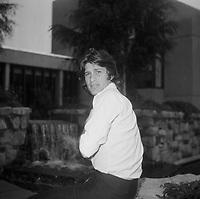 le chanteur israelien Mike Brant au Quebec (date inconnue vers 1973)<br /> <br /> PHOTO :  Agence Quebec Presse - Roland Lachance