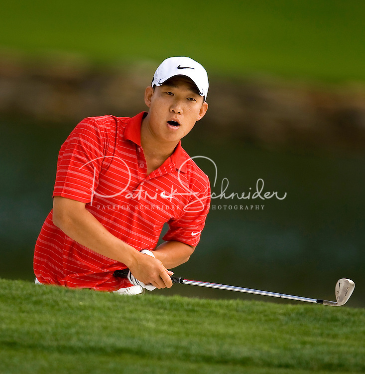 Golfer Anthony Kim works the course during the Quail Hollow Championship golf tournament 2009. The event, formerly called the Wachovia Championship, is a top event on the PGA Tour, attracting such popular golf icons as Tiger Woods, Vijay Singh and Bubba Watson. Photo from the second round in the Quail Hollow Championship golf tournament at the Quail Hollow Club in Charlotte, N.C., Friday, May 01, 2009.