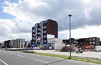 Nederland Almere  2018.   Straat in Almere Poort.   Foto Berlinda van Dam / Hollandse Hoogte