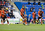 St Johnstone v Dundee United…22.08.21  McDiarmid Park    SPFL<br />Chris Kane's overhead kick is blocked<br />Picture by Graeme Hart.<br />Copyright Perthshire Picture Agency<br />Tel: 01738 623350  Mobile: 07990 594431
