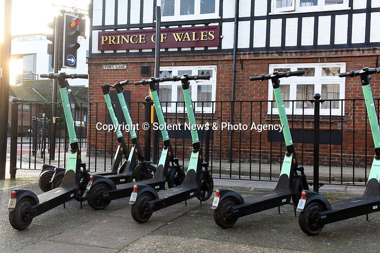 Pictured:  Kyak Jordan was stopped on an e-scooter collected from this area in Newport, Isle of Wight.<br /> <br /> A 20-year-old woman has become the first in Britain to be convicted of drink driving on an e-scooter.   Kyah Jordan was almost three times over the limit when she went through a red light and almost crashed into an unmarked police car.<br /> <br /> In court, her lawyer tried to argue that she was travelling so slowly on the electrically powered contraption she couldn't have posed a danger to anyone.   But magistrates banned her from the road for two years, stating 'it's a motor vehicle, the same as a moped, the same as a bus'.   SEE OUR COPY FOR DETAILS.<br /> <br /> © Simon Czapp/Solent News & Photo Agency<br /> UK +44 (0) 2380 458800