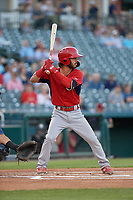 Springfield Cardinals Kramer Robertson (3) bats during a Texas League game against the Frisco RoughRiders on May 7, 2019 at Dr Pepper Ballpark in Frisco, Texas.  (Mike Augustin/Four Seam Images)