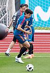Spain's Lucas Vazquez (t) and Jesus Vallejo during training session. June 5,2018.(ALTERPHOTOS/Acero)