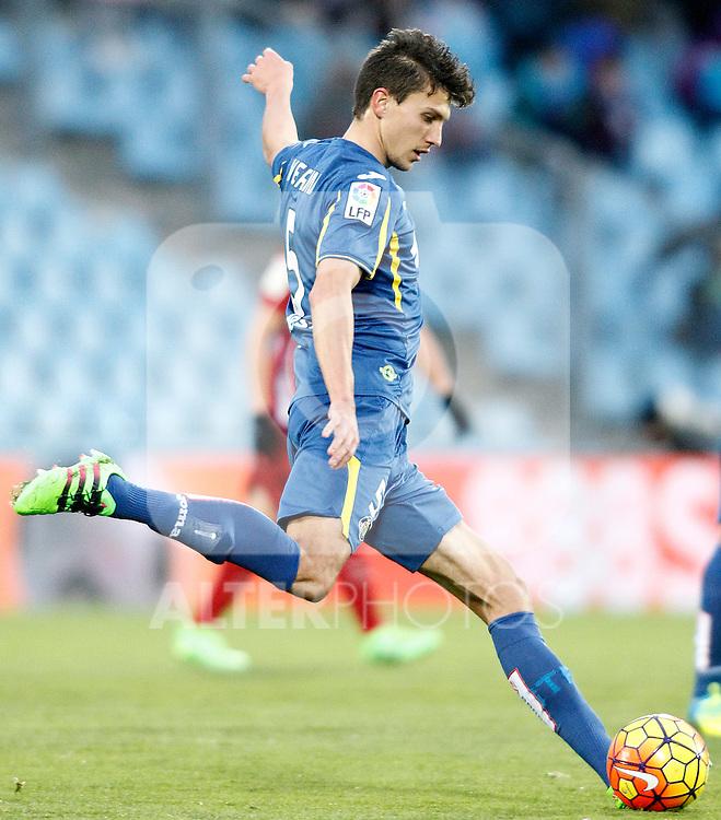 Getafe's Santiago Vergini during La Liga match. February 14,2016. (ALTERPHOTOS/Acero)