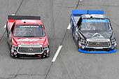 #17: Kyle Benjamin, DGR-Crosley, Toyota Tundra CROSLEY BRANDS / DGR CROSLEY, #16: Brett Moffitt, Hattori Racing Enterprises, Toyota Tundra AW N.C. / AISIN GROUP
