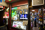 A TV in the window of Zaragoza Mexican Deli & Grocery displays Fox News' broadcast of President-Elect Joe Biden's acceptance speech after he was declared the winner of the 2020 presidential election, defeating U.S. President Donald Trump, on November 7, 2020 in New York City.  Photograph by Michael Nagle