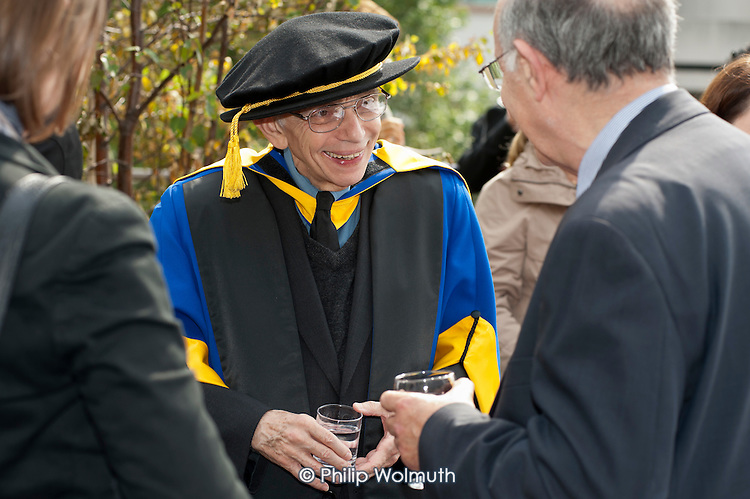 Reception after a ceremony in which Venezuelan composer and social visionary Maestro José Abreu is given an honorary degree by the Institute of Education, University of London, for his work with the pioneering El Sistema project.