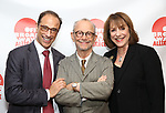 Hal Luftig, Joel Grey and Jana Robbins attends the 2019 Off Broadway Alliance Awards Reception at Sardi's on June 18, 2019 in New York City.