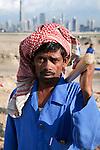 United Arab Emirates, Dubai: Asian construction worker