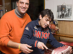 Cutting Ham, Pan Da Francesco Restaurant, Rome, Italy