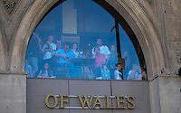 Pictured: Saturday 17 September 2016<br /> Re: Roald Dahl's City of the Unexpected has transformed Cardiff City Centre into a landmark celebration of Wales' foremost storyteller, Roald Dahl, in the year which celebrates his centenary.<br /> People get a great view of the event from above.