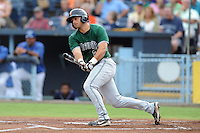 Augusta GreenJackets third baseman Shayne Houck #29 swings at a pitch during a game against the Asheville Tourists at McCormick Field on June 27, 2013 in Asheville, North Carolina. The Tourists won the game 10-6. (Tony Farlow/Four Seam Images)