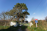 Pictured: Trecadwgan farm near Solva. Friday 10 January 2020<br /> Re: Farmers campaigning to save a 14th century farm called Trecadwgan and keep it for a community project in Solva, west Wales, UK.