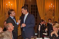 Februari 04, 2015, Apeldoorn, Omnisport, Fed Cup, Netherlands-Slovakia, Official Diner in Het Loo palace, KNLTB Director Erik Poel interviews Jacco Eltingh<br /> Photo: Tennisimages/Henk Koster