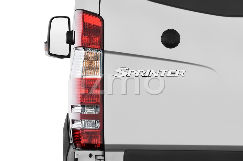 Tail light close up detail view of a 2008 Dodge Sprinter Passenger Van