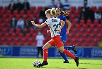 Essevee's Laura Vervacke pictured during a female soccer game between Zulte Waregem and the KAA Gent Ladies on the fourth matchday of the 2020 - 2021 season of Belgian Scooore Womens Super League , saturday 10 October 2020  in Waregem , Belgium . PHOTO SPORTPIX.BE | SPP | DAVID CATRY