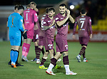 Livingston v St Johnstone…31.10.18…   Tony Macaroni Arena    SPFL<br />Tony Watt applauds the fans at full time<br />Picture by Graeme Hart. <br />Copyright Perthshire Picture Agency<br />Tel: 01738 623350  Mobile: 07990 594431