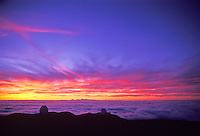 Observatories on Mauna Kea volcano on the Big Island of Hawaii. Highest mountain in the state of Hawaii