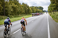 trying to bridge the gap as echelons are forming<br /> <br /> Grote Prijs Marcel Kint 2021<br /> One day race from Zwevegem to Kortrijk (196km)<br /> <br /> ©kramon