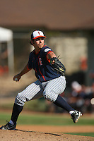 March 28 2009: Michael Morrison of the CS Fullerton Titans during game against the UC Riverside Highlanders at Riverside Sports Complex in Riverside,CA.  Photo by Larry Goren/Four Seam Images