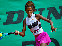 Hilversum, Netherlands, Juli 31, 2019, Tulip Tennis center, National Junior Tennis Championships 12 and 14 years, NJK, Girls Doubles: Jayden Lonwijk <br /> Photo: Tennisimages/Henk Koster