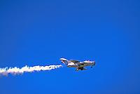 Mikoyan-Gurevich MiG-15 Military Aircraft in Flight - at Abbotsford International Airshow, BC, British Columbia, Canada